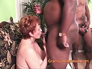 Old Women LOVES BBC and CUM