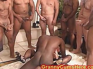 CUM loving GRANNY gang..