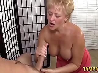 Best Handjob by Granny
