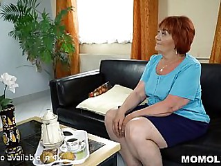 Chubby Granny Receives Cock..