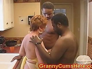 Granny Slut FUCKED in her..