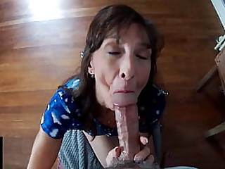 Hot Granny Takes A Mouthful..