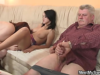 Young gf gets seduced by..
