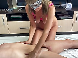 Granny massage with happy..