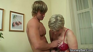Old housewife gets nailed by..